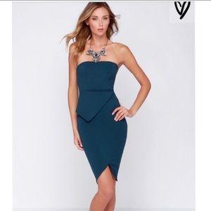 Lulus Twice the Fun Navy Blue Bodycon Dress